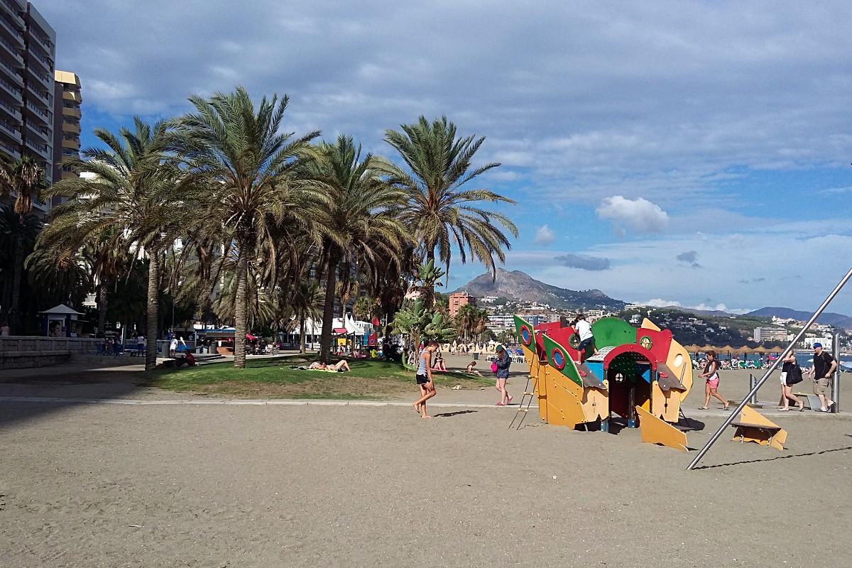 Plaża w Maladze