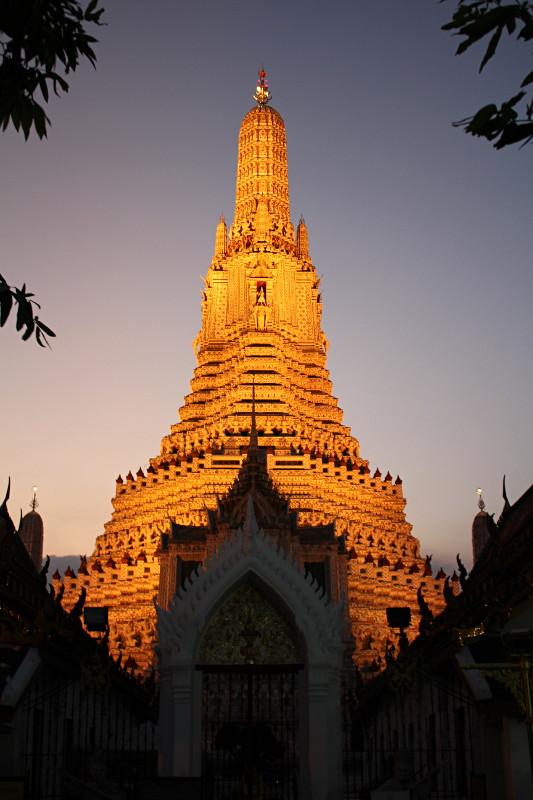 Bangkok – Wat Arun i inne