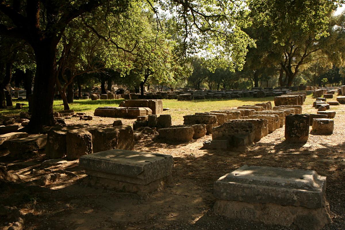 Starożytne ruiny w Grecji