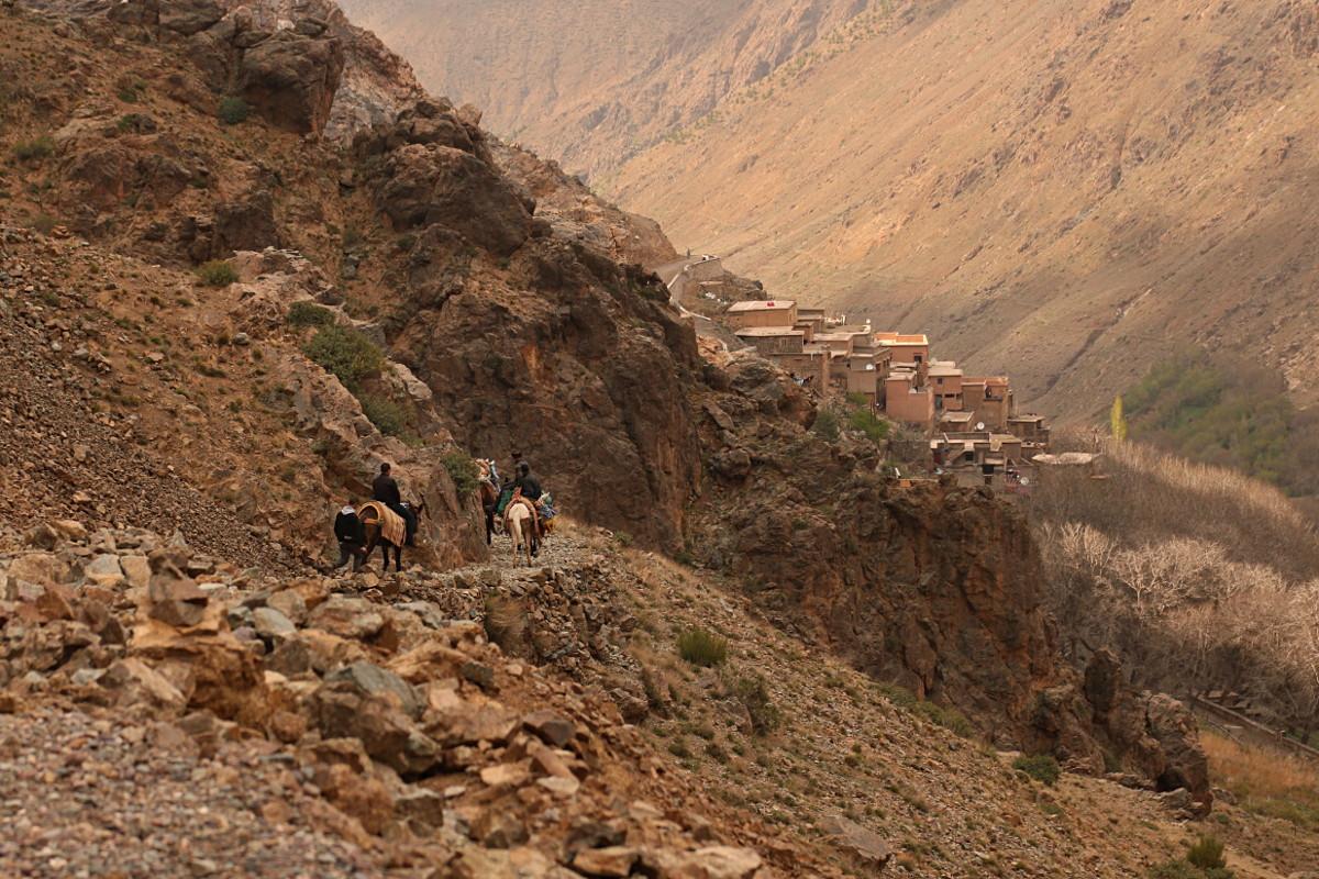 Atlas Wysoki: Refugio del Toubkal – Imlil