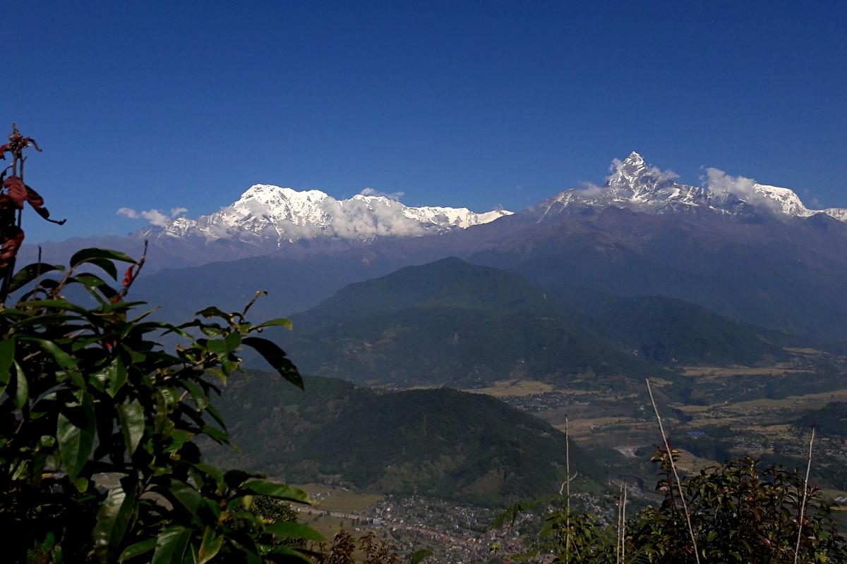 Pokhara z widokiem na Annapurnę I